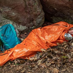 SOL Escape™ Bivvy Survival Orange in Use