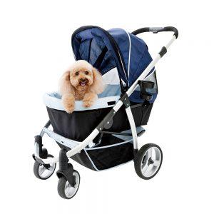 Retro I Pet Stroller Navy Blue