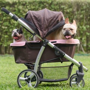 Collapsible pet stroller