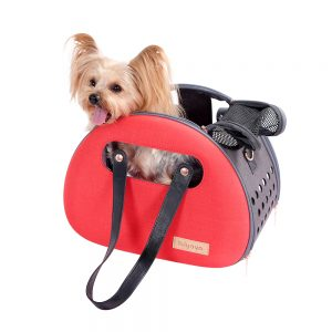 Red pet shoulder bag
